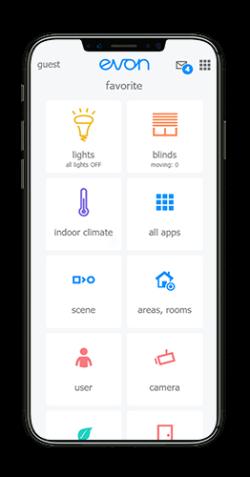 evon Smart Home Startscreen
